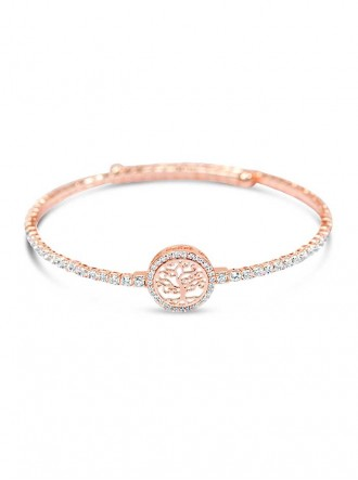 B19198 - Rose Hold Plated Crystal Bracelet (Accessories By Park Lane)