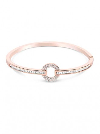 B19356 - Rose Gold Plated Cubic Zirconia Bracelet (Accessories By Park Lane)