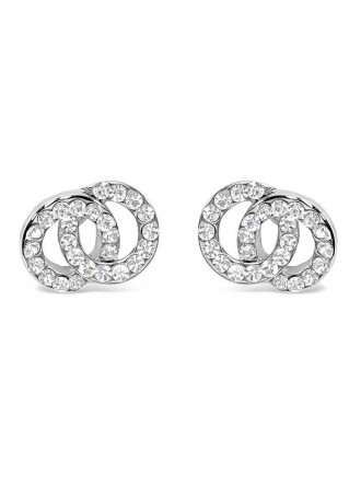 E19281 - Crystal Rhodium Plated Earrings (Accessories By Park Lane)