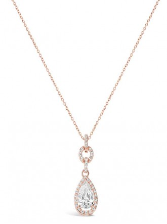 N18310 - Cubic Zirconia Rose Hold Plated Pendant (Accessories By Park Lane)