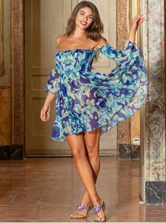 V3001 Dress - Blue (Antica Sartoria)
