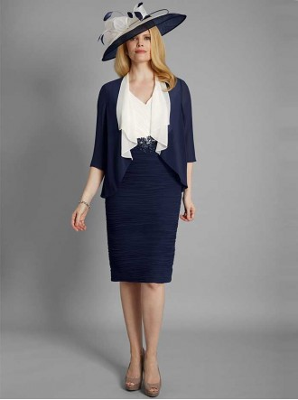 70992 - Navy/Cream Dress & Jacket (Conidic)