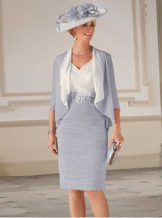 70992 - Smokey Amethyst/Cream Dress & Jacket (Condici)