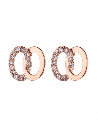 E18048RG - Rose Gold Plated, Crystal Stud Earring (Accessories By Park Lane)