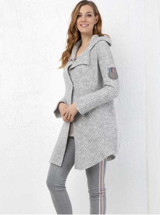 ELW194010901 - Light Grey Cardigan (Elisa Cavaletti)