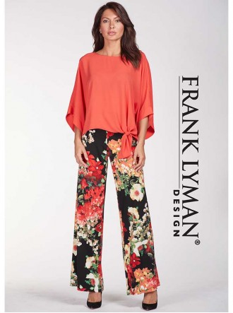 186396 Pant - Black/Red/Yellow (Frank Lyman)