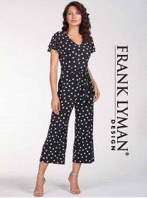 186405 Jumpsuit - Black/White (Frank Lyman)