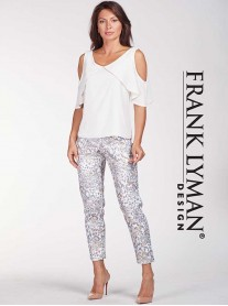 186531 PANT - White Grey/Gold (Frank Lyman)