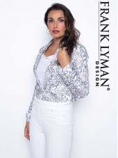 186532 Jacket - White Grey/Gold (Frank Lyman)