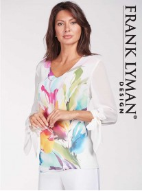 186651 TOP - Pink Multi (Frank Lyman)
