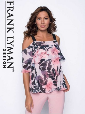 191404 Top - Black/Blush/Light Blush (Frank Lyman)