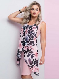 191406 Dress - Blush/Black/Light Blush (Frank Lyman