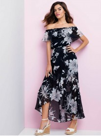 191531 Dress - Navy/Off White/Pink (Frank Lyman)