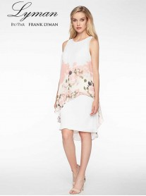 198182 DRESS - Off White Blush (Lyman by Frank Lyman)