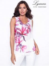 198189 - Pink/White Floral Top (Frank Lyman)