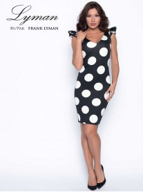 198344 - Black/White Dress (Lyman By Frank Lyman)