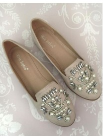 H08 - Beige Pearl Shoes