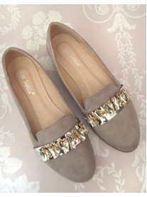 Silver Grey Diamante Shoes