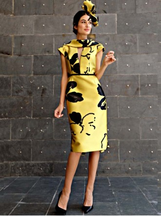 6893 - Black & Yellow Dress (Gabriela Sanchez)