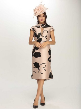 6893 - Black & Beige & Negro/Rosa Dress (Gabriela Sanchez)
