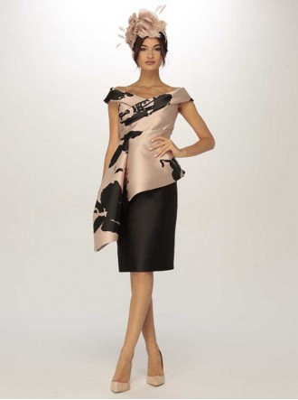 6907 - Rosa/Negro Dress (Gabriella Sanchez)