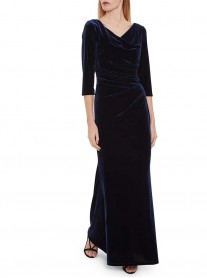 2687 - Black, Navy & White Dress - (Gina Bacconi)