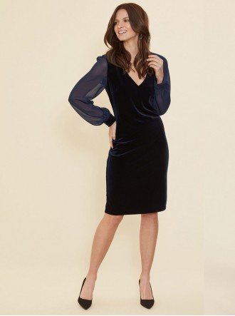 2511 - Navy Dress (Gina Bacconi)