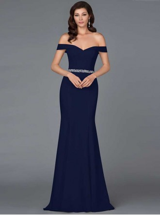 2181H - Navy Blue Dress (Gino Cerruti)