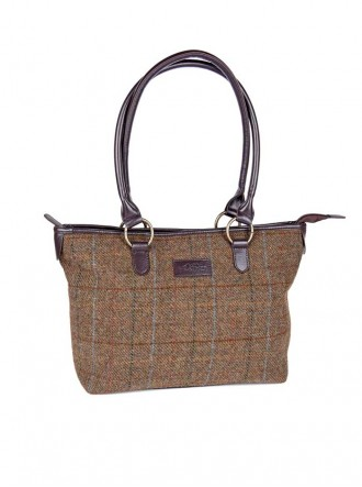 ZB053 - Brown/Gold/Blue Elise Classic Tote (Heather)