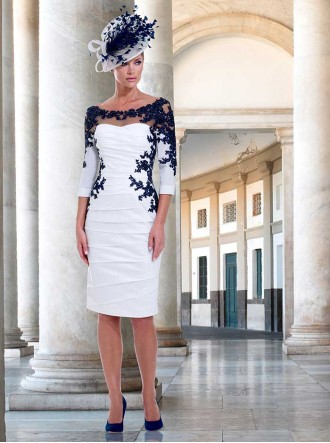 IR4018 - Ivory/Navy Dress (Irresistible)