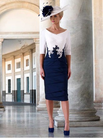 IR5060 - Ivory/Navy & Blossom/Navy Dress (Irresistible)