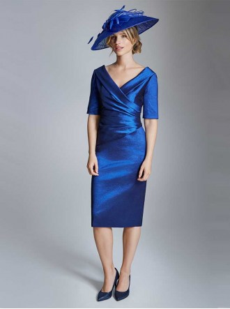 ISE821 - Ecru - Mauve Ice - Indigo - Rich Jade & Midnight Dress (Ispirato)