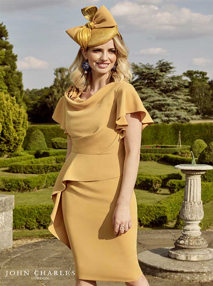 26798 - Fuchsia & Mustard Dress (John Charles)