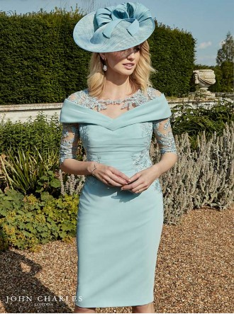 26866 - Blush & Azure Dress (John Charles)