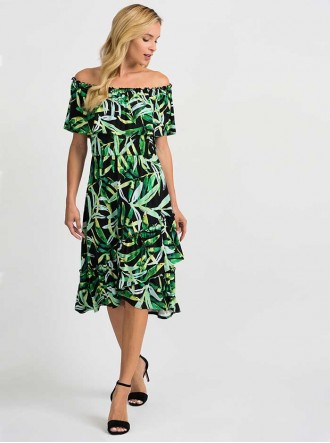 201372 - Black/Multi Dress (Joseph Ribkoff)