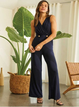 202023 - Midnight Blue Jumpsuit (Joseph Ribkoff)