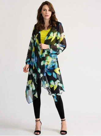 202109 - Black/Multi Cover Up (Joseph Ribkoff)