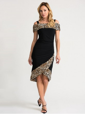 202161 - Beige/Black Dress (Joseph Ribkoff)