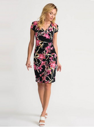 202450 - Black/Multi Dress (Joseph Ribkoff)