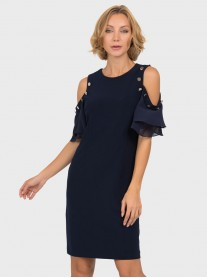 191201 - Midnight Blue Dress (Joseph Ribkoff)