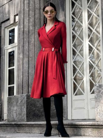 8950 - Red Coat Dress (Michaela Louisa)
