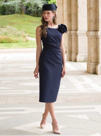 9020 - Navy & Pearl Dress & Jacket (Michael Louisa)