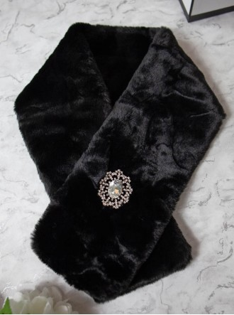 Faux Fur Scarf - Black