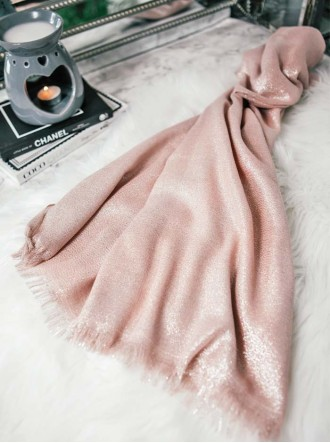 Metallic Sparkly Scarf - Pink