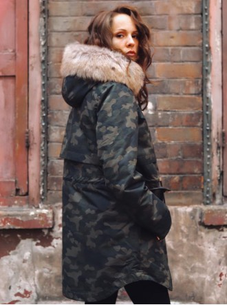 Faversham Faux Fur Parka Coat - Camo (Parka London)