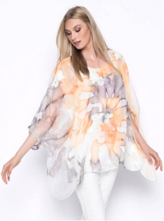 Print Embellished Poncho Top (Picadilly Canada)