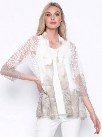 Print Jacket - Taupe (Picadilly Canada)