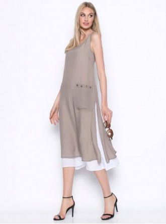 Midi Dress With Side Pocket (Picadilly Canada)