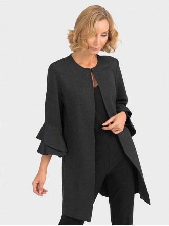 193362 - Charcoal Grey Coat (Joseph Ribkoff)