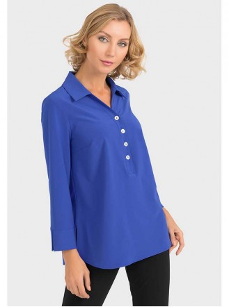 193417 - Blue/Black/Navy/White Blouse (Joseph Ribkoff)